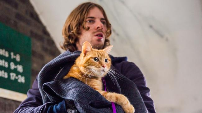 Rising star Luke Treadaway made music on the streets of London with a cat named Bob