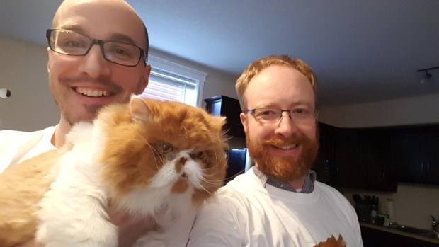 An ugly cat and two Fort McMurray guys raise money for Syria